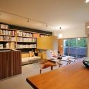 碧山美樹の住宅事例「可動家具でゆるやかに仕切り家族が居心地のいい場所で過ごす」