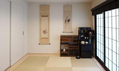 夫の母が長年住んだ低層マンションを 夫婦ふたりが暮らしやすい家に (畳の寝室)