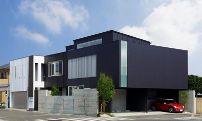 VERTICAL HOUSE (縦格子の家) (外観)
