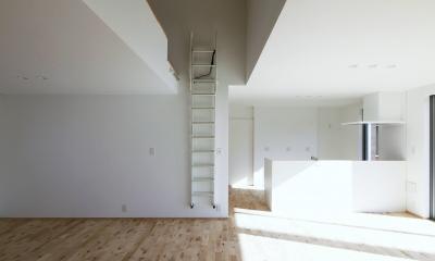 F.Flat+L -共働きのための平屋住宅- (リビング)