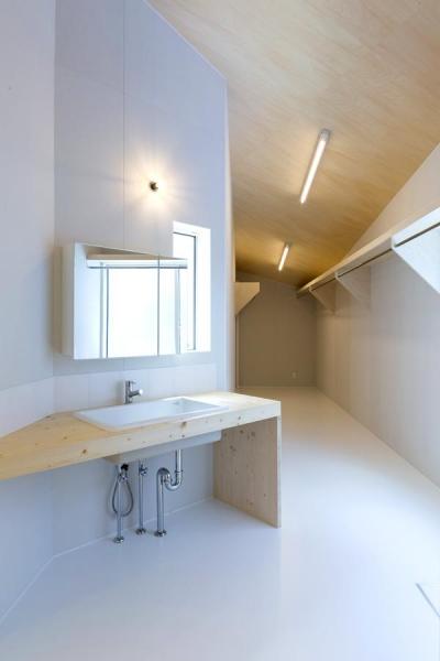 カタチのヒミツ (シンプルな洗面脱衣室)
