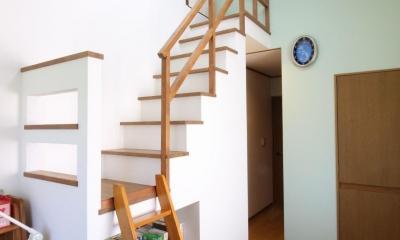 二世帯を楽しむ家 (子供部屋 ロフト固定階段造作)