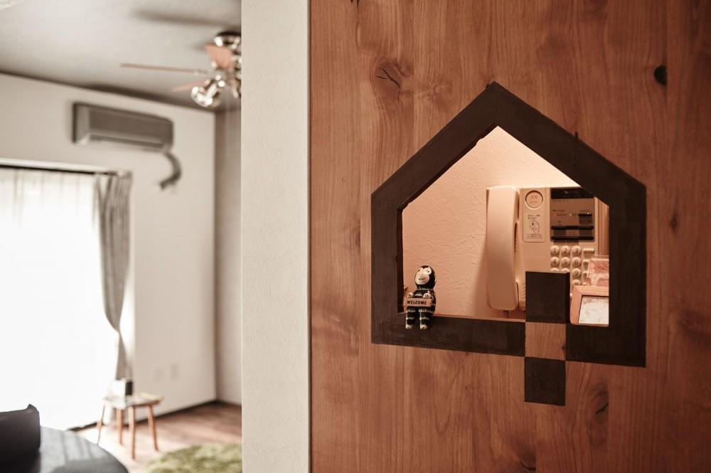 パリのアパルトマン風リノベ (オリジナルドア)