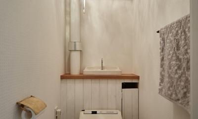 パリのアパルトマン風リノベ (トイレ)