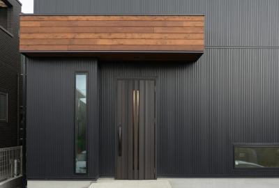 玄関ドア (cool modern style)