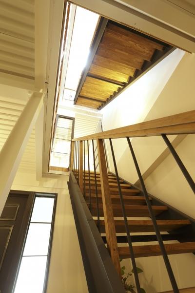 光差し込むスケルトン階段 (暮らし方自由自在 「KNY 2-11」)