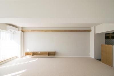 左官壁の風合い (子どもの小上がりのある家 すくすくリノベーションvol.9)