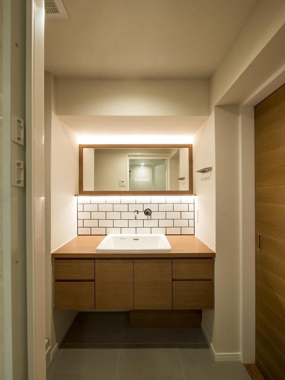 子どもの小上がりのある家 すくすくリノベーションvol.9 (オーダー洗面カウンター)