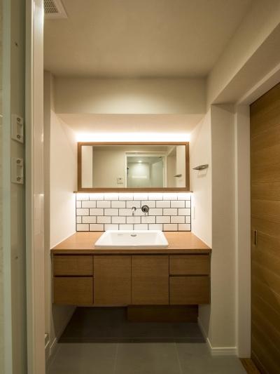オーダー洗面カウンター (子どもの小上がりのある家 すくすくリノベーションvol.9)