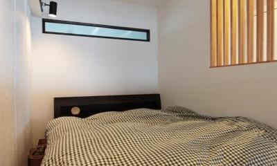 黒とパステル (シンプルなベッドルーム)