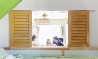キッズルーム|狭くて贅沢な寝室と、ハワイのコテージ