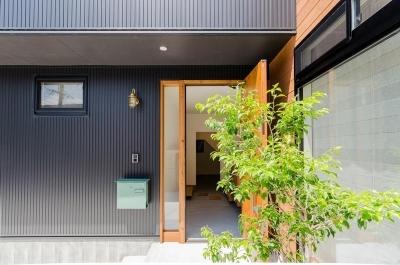 玄関 (『矢野の家』  2階リビングの家)