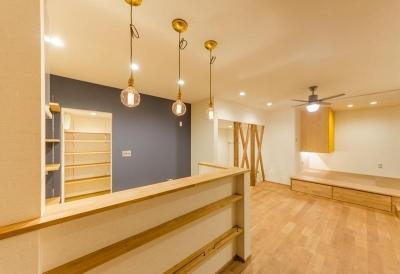 LDK (『矢野の家』  2階リビングの家)