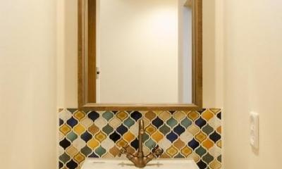 手洗い|『矢野の家』  2階リビングの家