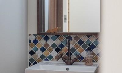 『矢野の家』  2階リビングの家 (手洗い)