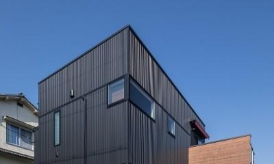 『矢野の家』  2階リビングの家 (外観)