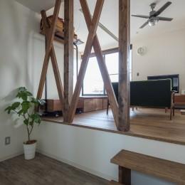 『矢野の家』  2階リビングの家 (カットスペース)