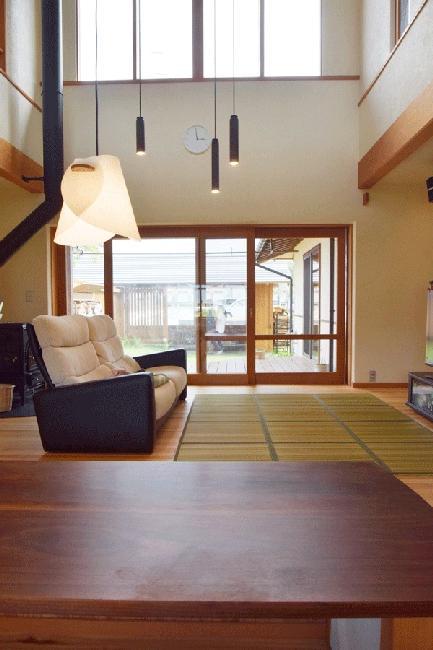 河口湖の舎Ⅱの部屋 薪ストーブのあるリビング
