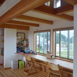 河口湖の舎Ⅱ (造作デスクのあるスタディコーナー)