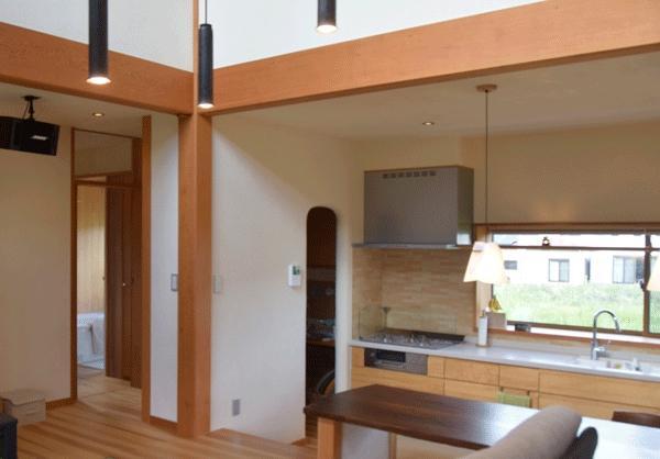 河口湖の舎Ⅱの部屋 シンプルなキッチン