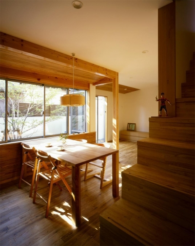 松ヶ崎の家2 (リビングダイニング)