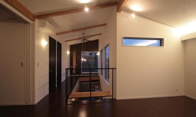 廊下|土間と吹抜のある家