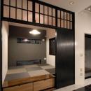 市松模様になった琉球畳のある和室
