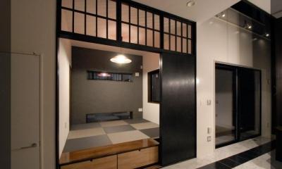 市松模様になった琉球畳のある和室|T様邸 藤沢