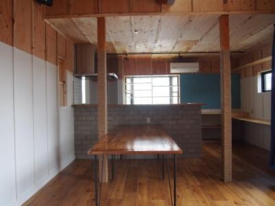 開放的なダイニングキッチン (Y様邸 本厚木 / 戸建リノベーション)