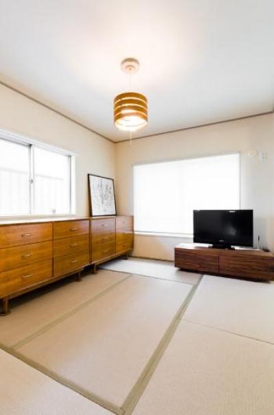 家具をなるべく置かずシンプルに、 自分たちらしい居心地のいい空間にしたい。 (和室)
