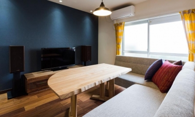家具をなるべく置かずシンプルに、 自分たちらしい居心地のいい空間にしたい。