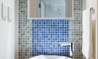 洗面台|家具をなるべく置かずシンプルに、 自分たちらしい居心地のいい空間にしたい。