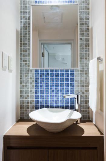 家具をなるべく置かずシンプルに、 自分たちらしい居心地のいい空間にしたい。の写真 洗面台