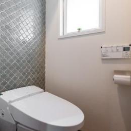 家具をなるべく置かずシンプルに、 自分たちらしい居心地のいい空間にしたい。 (トイレ)