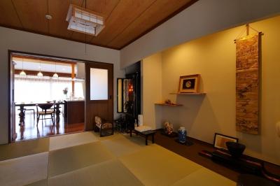 都会から田舎へ、ゆったりと暮らすカフェハウス (和室)