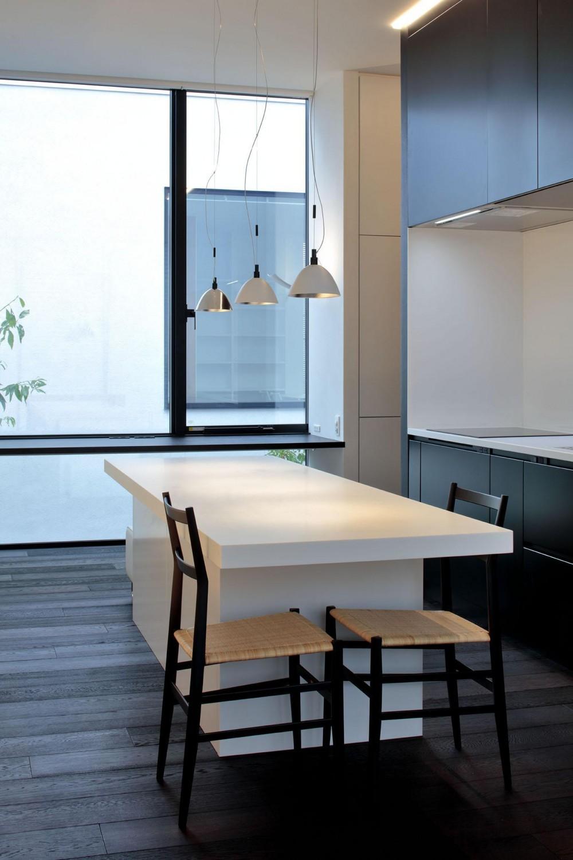 浜田山の家-ギャラリースタイルの家、ミニマリズムの調べ- (ビルトイン&アイランドキッチン)