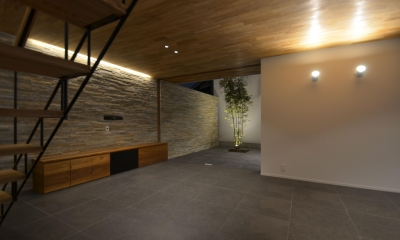 本天沼S邸-領域を明確にし、内外の連続性をつくりだす石壁-