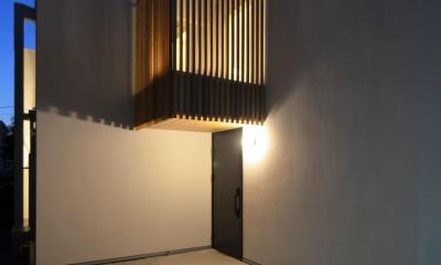 保谷O邸-「鳥かご」のあるシンプルモダンなコートハウス-