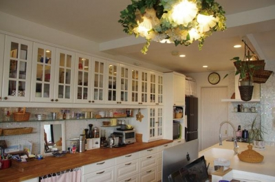 理想のオープンキッチンへ、キッチンリフォーム (キッチンが家具のように使えるお気に入りの空間)