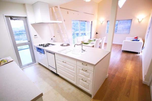 ヨーロピアンテイストのロフトハウスへ、リビングリノベーションの写真 キッチン