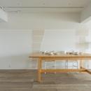 リノBe 【リノビー】の住宅事例「東加古川のリビング、キッチンリフォーム事例|ヴィンテージスタイルの住まい」