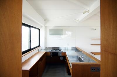 3階キッチン (寺町の家)