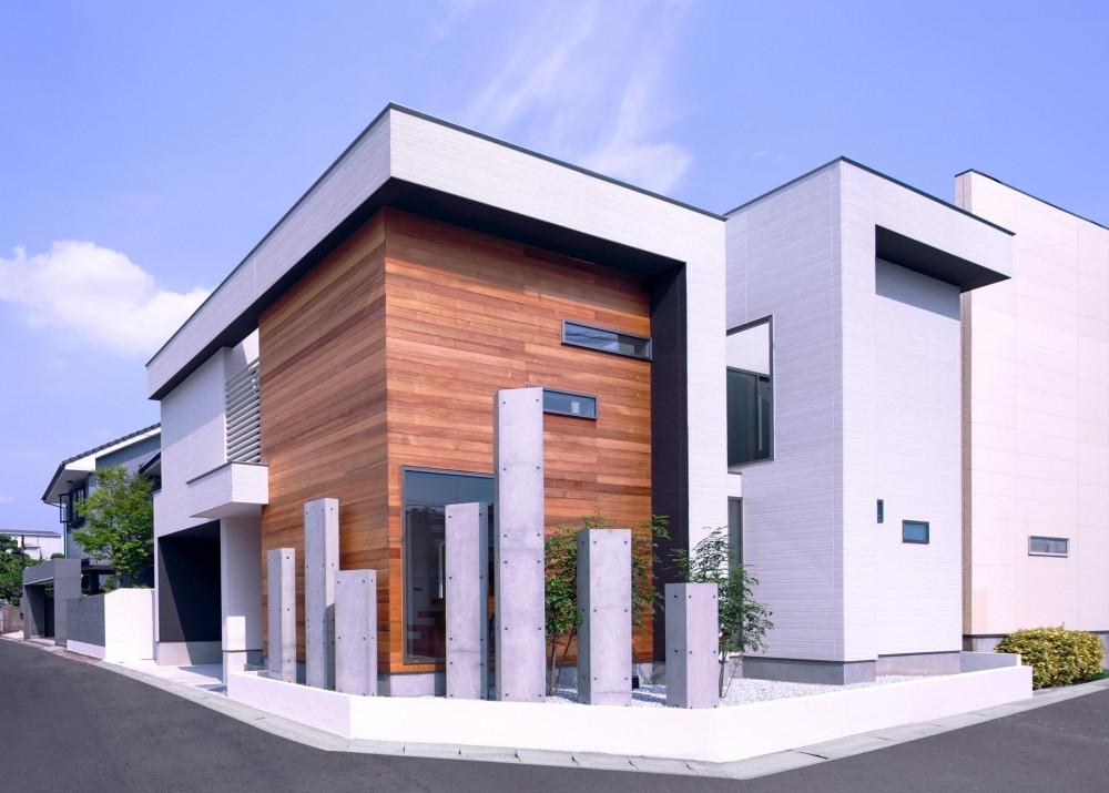 M10-house「オブジェのある家」 (外観)