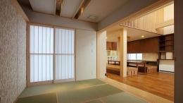 宮田の家 (リビングと一体感のある和室)