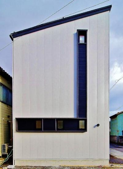 鶴岡の家 (片流れ屋根の外観)