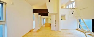 鶴岡の家 (ロフトのあるリビング)
