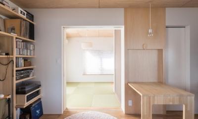 2階リビング|築90年の木造住宅を二世帯にリノベーション:『横須賀市久里浜・戸建二世帯リノベーション』