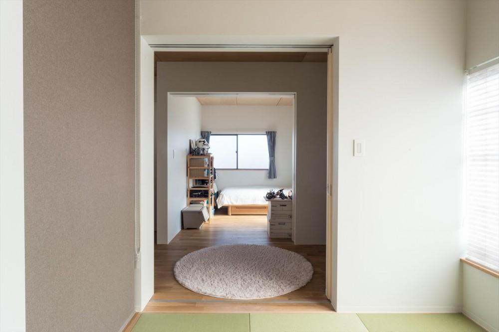 築90年の木造住宅を二世帯にリノベーション:『横須賀市久里浜・戸建二世帯リノベーション』 (夫婦寝室からリビング・子供室)
