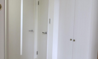 玄関ホール|ロフト+W.I.C.のある、よくばり1DK!30平米の空間を有効利用。
