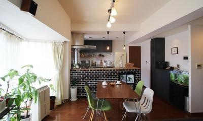 変えたのはキッチンだけ!LDKが大きく変わったリノベーション